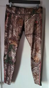 Under Armour Women's Leggings Scent Control ColdGear Realtree Hunting Pants Med