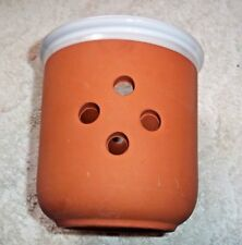 """Vintage Pic Clay Pottery Vase Usa Earth Tones Modern Design 4 1/4"""" Tall"""