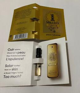 Paco Rabanne 1 Million Parfum EDP Sample Spray Vials  Genuine X 2 Vials Floral