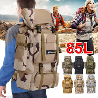 85L Waterproof Backpack Camouflage Outdoor Travel Tactical Mountaineering  -)