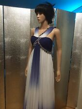 Chiffon Rhinestones Prom Dress Plus Floor Length Gown Formal Event Elegant XS-0