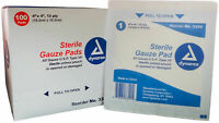 """Dynarex Sterile Gauze Pads 4"""" x 4"""" 12 ply Absorbent Wound Dressing 200 Pieces"""