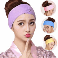 Womens Wide Sports Yoga Headband Stretch Hairband Elastic Hair Band Solid Turban