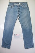 Levi's 501 Boyfriend (Cod. M1475) tg50 W36 L34 jeans usato Vita Alta vintage