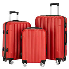 3 Pcs Multifunctional Luggage Travel Set Bag ABS Trolley Suitcase