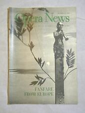 OPERA NEWS Magazine Oct.19 1953  Fanfare From Europe, Spring Opera In Paris