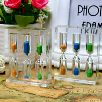 3/4/5 Minutes Timer Hourglass Desktop Ornament Home Decoration Acrylic Board !