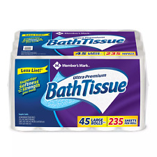 Member's Mark Ultra Premium Soft & Strong Bath Tissue,2-Ply Large Roll Toilet.