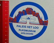 Aufkleber/Sticker: Paleis Het Loo Rijksmuseum Apeldoorn (300416161)