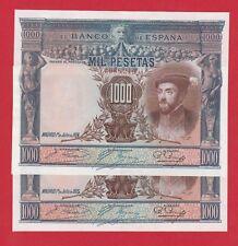 Spain, 1000 Pesetas,  1925,  '' Carlos I '',  Consecutive numbers  XF/VF+