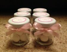 Personalised Miniature Jar Wedding Favours x 50 in Pink theme