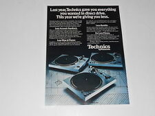 Technics Turntable Ad SL-1800, SL-1700, SL-1600, 1 page, 1977