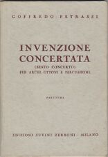 Goffredo Petrassi, Invenzione concertata, Suvini Zerboni, 1957, partitura,musica