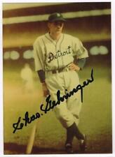 Original Autograph PSA/DNA of Charles Gehringer of the Tigers on a 3.5x5 Photo