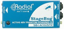 Radial Engineering SB-1 StageBug Active Compact DI Direct Box for Guitar & Bass