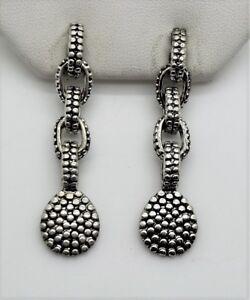 Modern Unique Design Style Rhodium Plated Silver Pots Drop fashion Earring E16