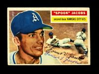 1956 TOPPS FORREST SPOOK JACOBS #151 ATHLETICS SIGNED AUTOGRAPH PERIOD