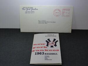 Vintage 1963 New York Yankees Baseball Schedule & Ticket Info