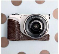 CIESTA Leather Camera Body Case Cover Body Jacket For Sony NEX-3N - Dark Brown