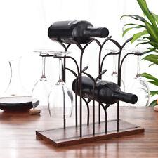 Iron Wine Bottle Holder Nordic Style Wine Rack Retro Shelf Bar Accessories Gift