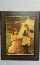 George Clausen Lithograph Post Impressionist Art deco 1930s Gilt Slip Oak Frame
