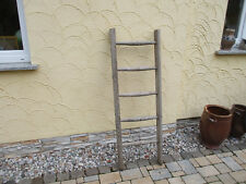 alte Holzleiter(120) Deco Blumenampel Baumleiter Handtuchhalter Kleiderhalter