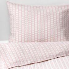 Ikea Fjallvedel King Duvet Set 2 Pillowcases, 240x220 cm, Pink & White, New