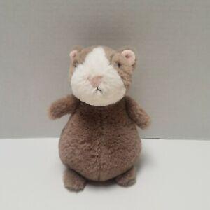 "Jellycat London Happy Nutmeg 7"" Plush Hamster Stuffed Animal Toy White & Brown"