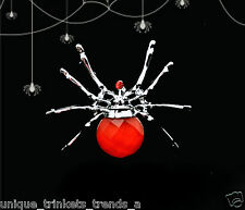 BLOOD RED SPIDER PIN BROOCH~HALLOWEEN WEDDING PARTY FAVOR~VAMPIRE GOTHIC LOLITA