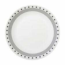 Corelle  Livingware  Black/White  Glass  City Block  Dinner Plate  1 pk