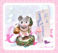 ❤️Wee Forest Folk CC-4 Ghost of Christmas Past Carol Gray Mouse Retired CC-04❤️
