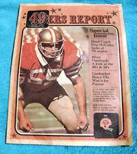 1978 San Francisco 49er's Report Newsletter  - First Issue Volume 1 #1