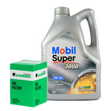 Mobil Super 3000 X1 FE 5W30 Engine Oil 5L and Oil Filter Service Kit