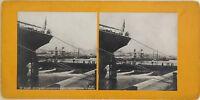 Algeria Algeri Il Port Bateau Steamer Foto Stereo Vintage Analogica c1900