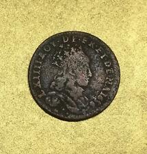 LIARD de CUIVRE LOUIS XIV 1656 2e TYPE B PONT-de-L'ARCHE / FRANCE en CUIVRE.