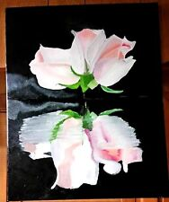 Original- One of a Kind- Oil on Canvas Painting-Reflectio- Signed-COA-Listed Art