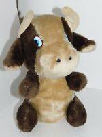 Vintage Cow Plush Bull Acme Brown Stuffed Animal