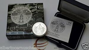 5 euro Italia 2014 ag proof BE PP Fs Bagnaia Villa Lante Italie Italy Italien