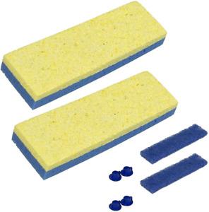 "Quickie Sponge Mop Refill 3 "" X 9 "" Type S 2 Packs NEW"