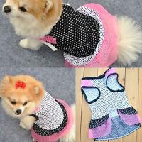LT_ FP- New Puppy Dog Pet Princess Beautiful Dot Yarn Elastic Skirt Dress Clot