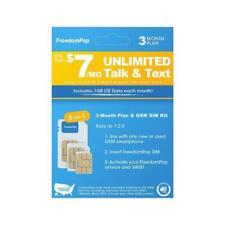 FreedomPop Less than $7/month, 3-Month Prepaid Plan - 3-in-1 LTE SIM Kit -...