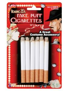 Fake Cigarettes 6 PCS gangster flapper 50s 20s costume smoking accessory quit