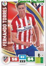 036 FERNANDO TORRES ESPANA ATLETICO CHELSEA.FC CARD ADRENALYN LIGA 2016 PANINI