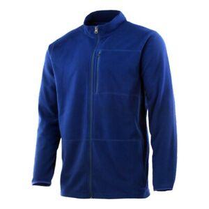 Huk Channel Full Zip Mock Neck Fleece Navy Blue Men's Medium NWT $100