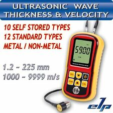 Ultrasonic Thickness Meter Tester Gauge Velocity 1.2~225mm Metal GM-100 Digital