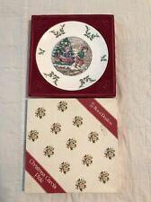 Vintage Royal Doulton Christmas Carols 1979 Christmas Plate Original Box Perfect