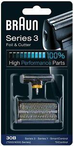 Braun Grille de Rechange 30B Rasoirs Series 3, Series 1, TriControl, 7000/4000