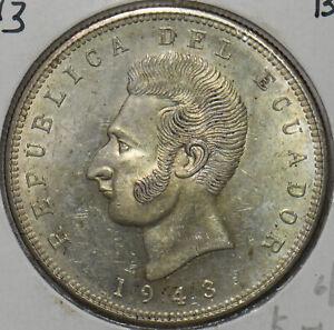 Ecuador 1943 5 Sucres Eagle animal BU 297106 combine shipping