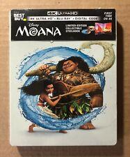 Disney Moana Steelbook (4K Ultra HD + Blu-Ray + Digital) New/Sealed