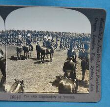 WW1 Stereoview Photo The 48th Highlanders Of Toronto Canada Keystone